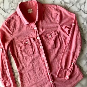J. Crew Cotton Voile Camp Shirt Perfect Fit